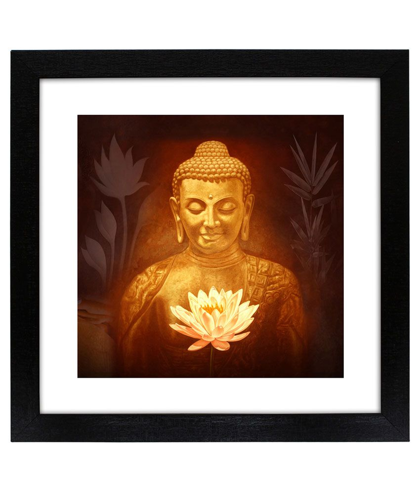 Delight Buddha with Kamal Flower Painting