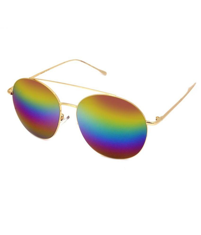 Macv Multicolor Medium Unisex Round Sunglasses