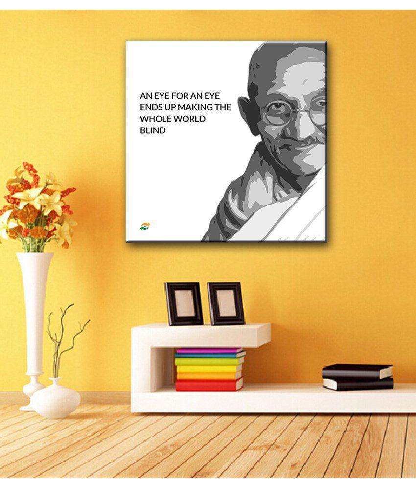 Tallenge Mahatma Gandhi Motivational Quotes An Eye For An Eye Gallery Wrap Canvas Art Print