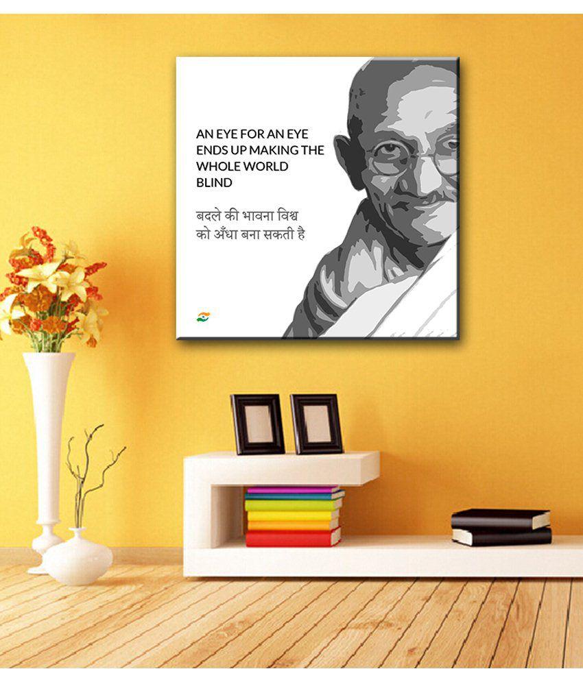 Tallenge Mahatma Gandhi Motivational Quotes In Hindi An Eye For An Eye Gallery Wrap Canvas Art Print