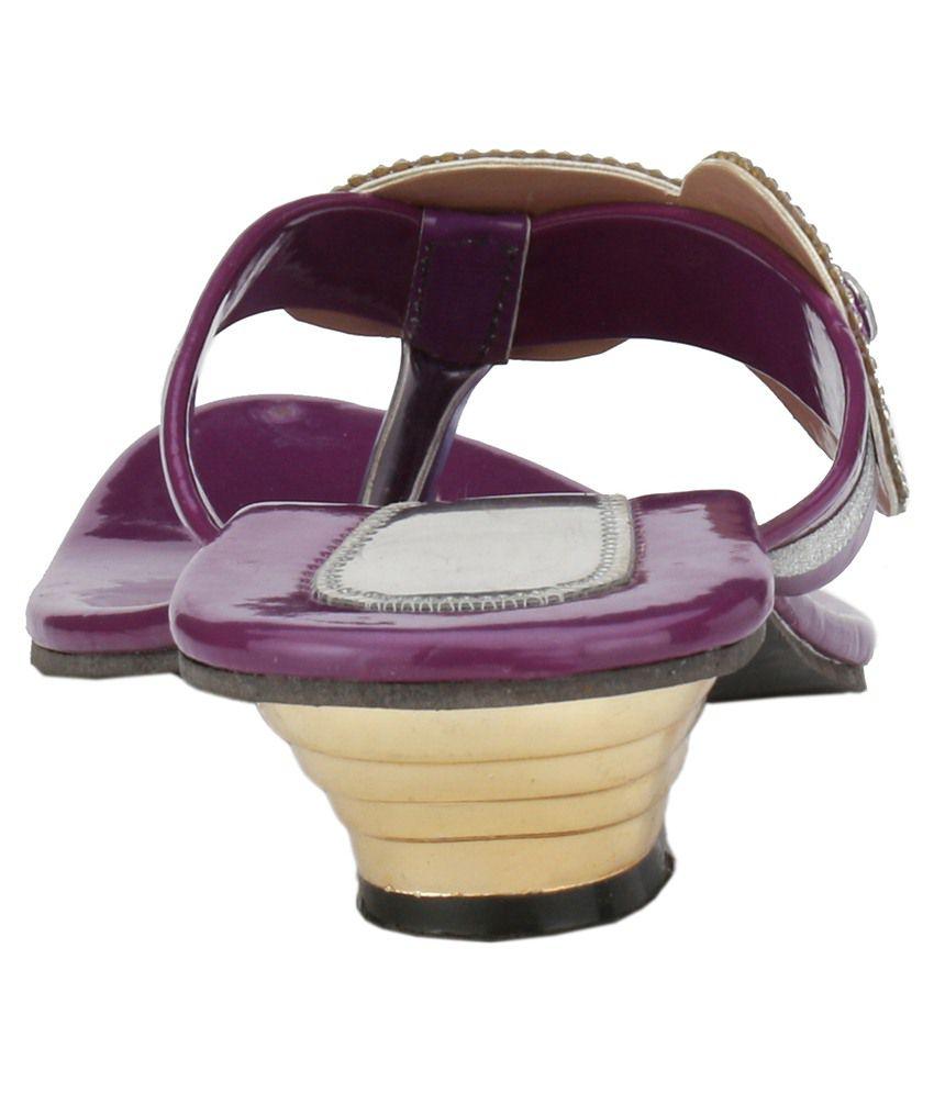 Purple Block Heels