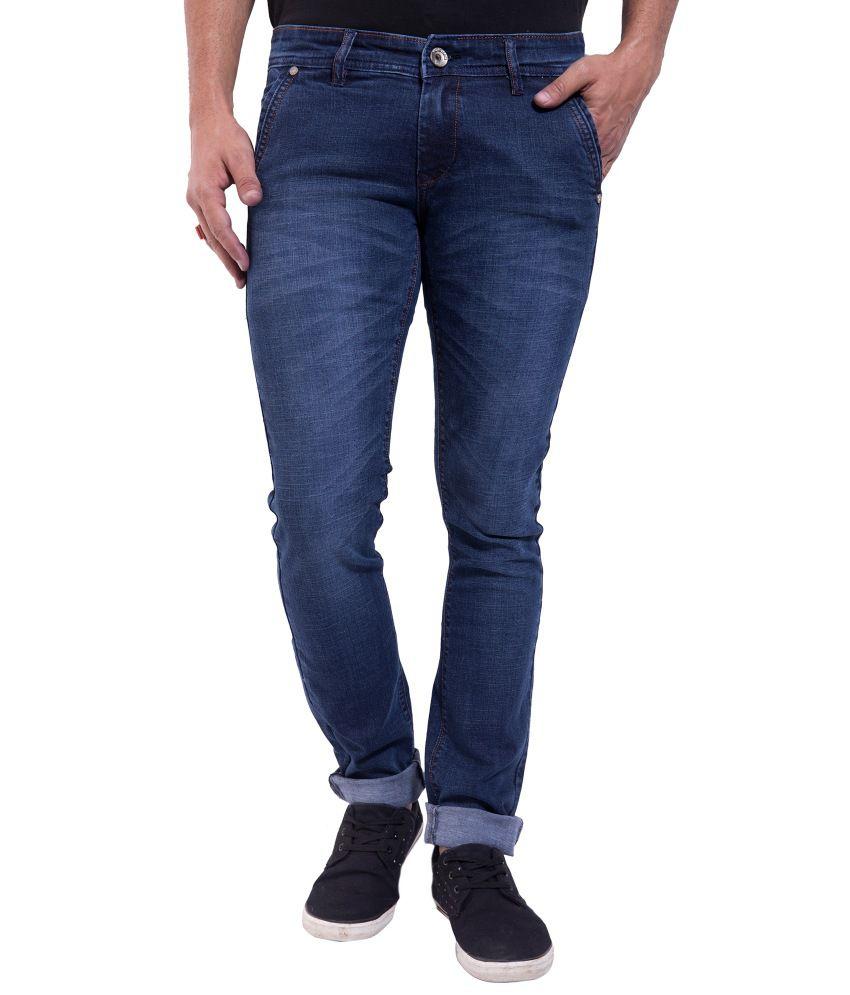 Yozimo Blue Regular Fit Denim Jeans