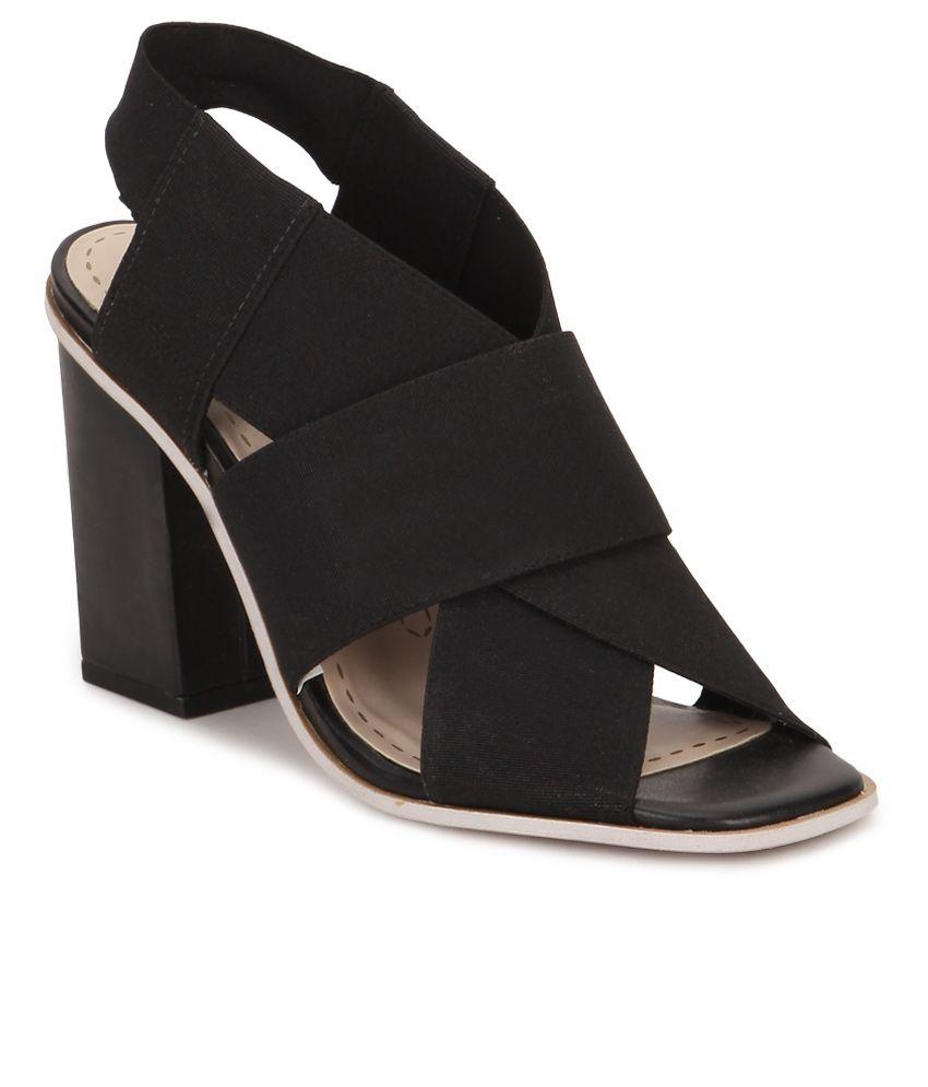 671df4265c7 Clarks Black Block Heels Price in India- Buy Clarks Black Block Heels  Online at Snapdeal