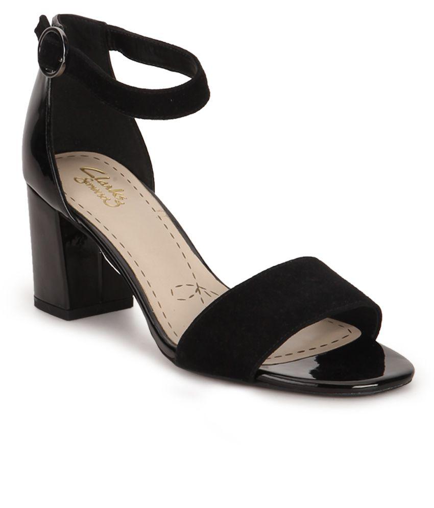 65598d68b03 Clarks Black Block Heels Price in India- Buy Clarks Black Block Heels  Online at Snapdeal