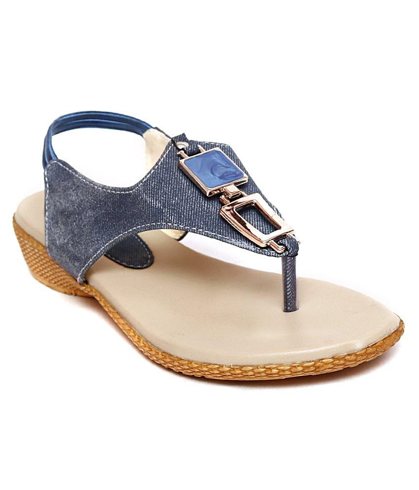 Creative Blue Flat Slip-on & Sandal