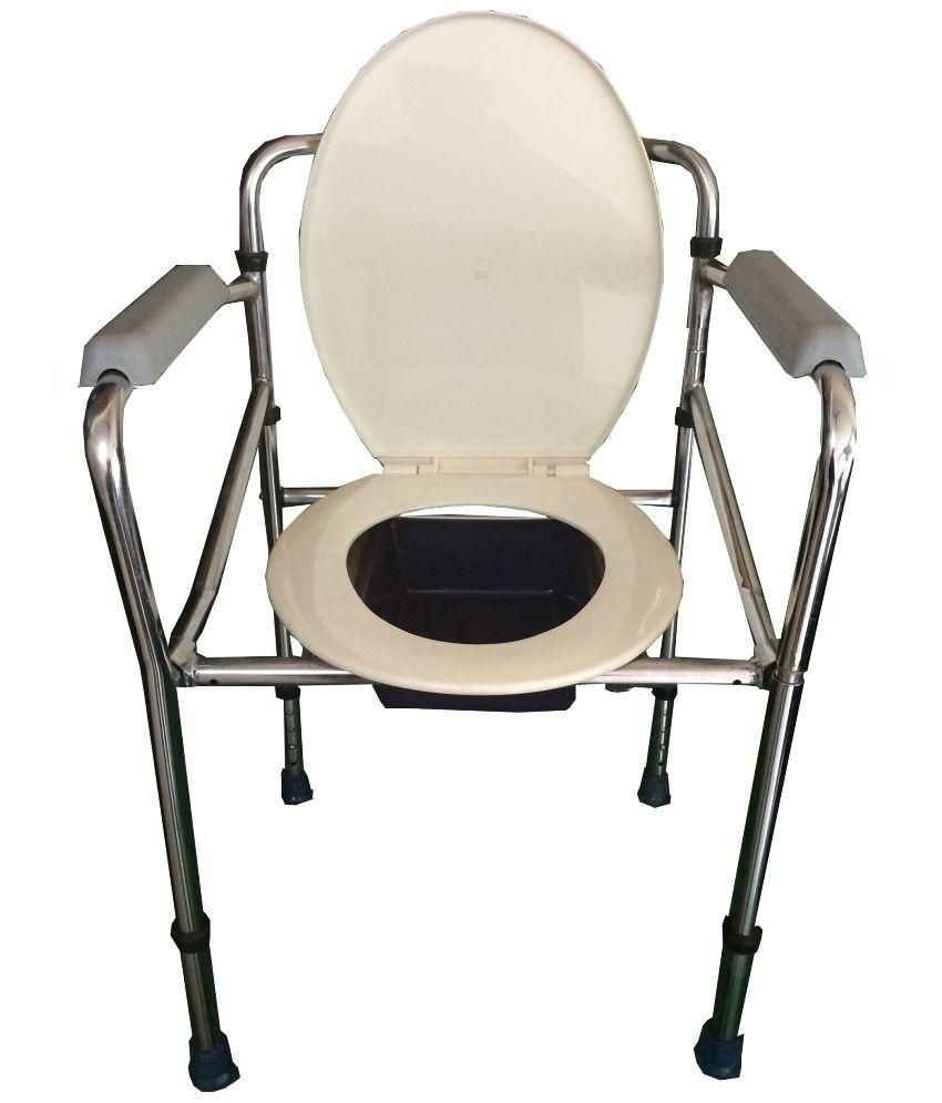 buy eks stainless steel commode chair online at low price in india rh snapdeal com