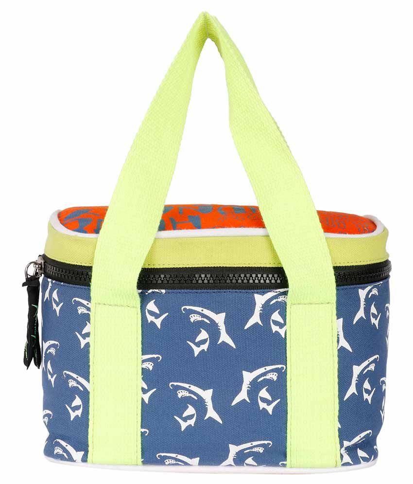 Kanvas Katha Navy Canvas Cloth Lunch Bag