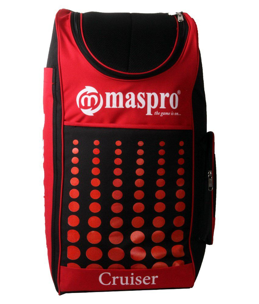15811c4a7dc Maspro Cruiser Cricket Kit Bag-red   Black  Buy Online at Best Price on  Snapdeal