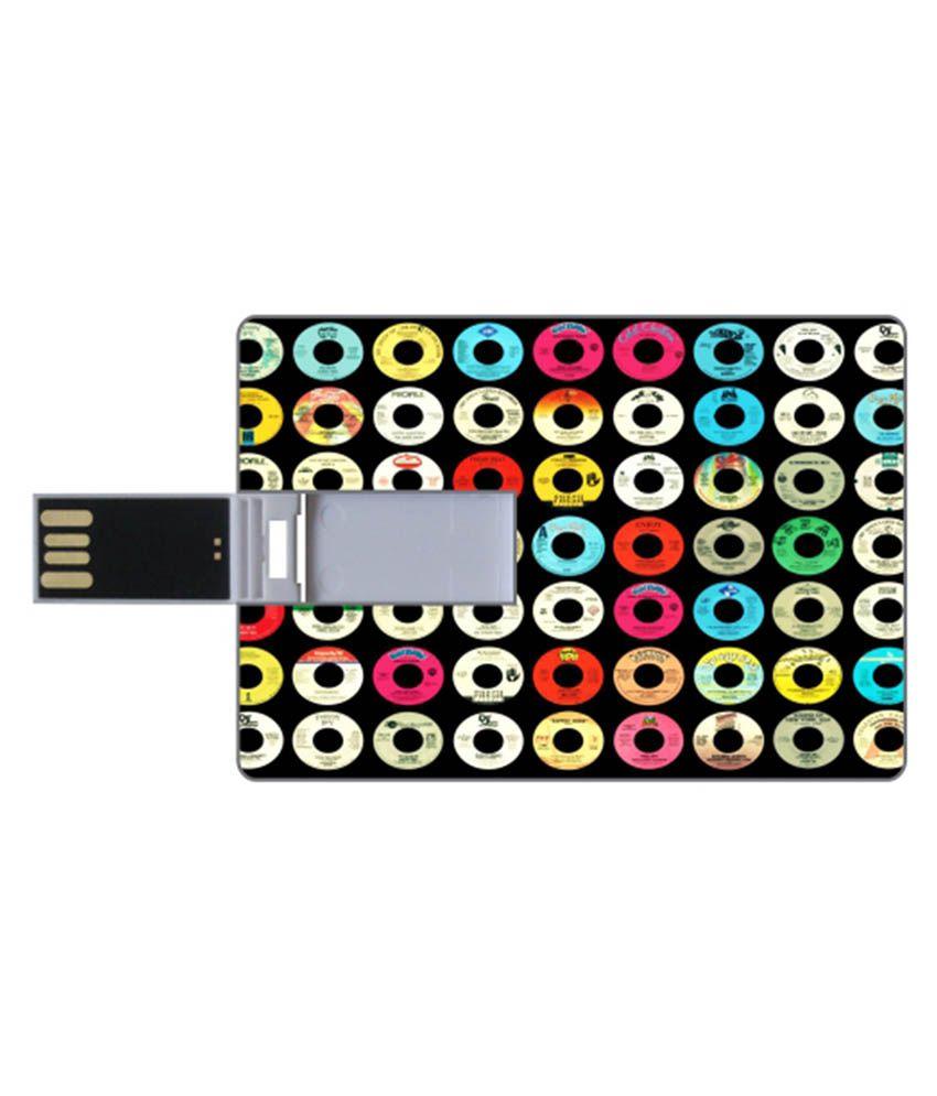 Via Flowers 16 Gb Pen Drives Multicolor