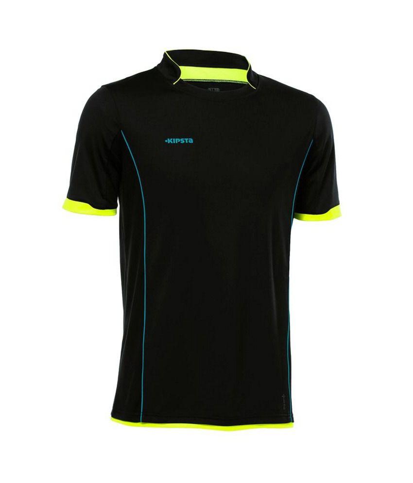 Kipsta T-shirt F500 Jr Black Yellow