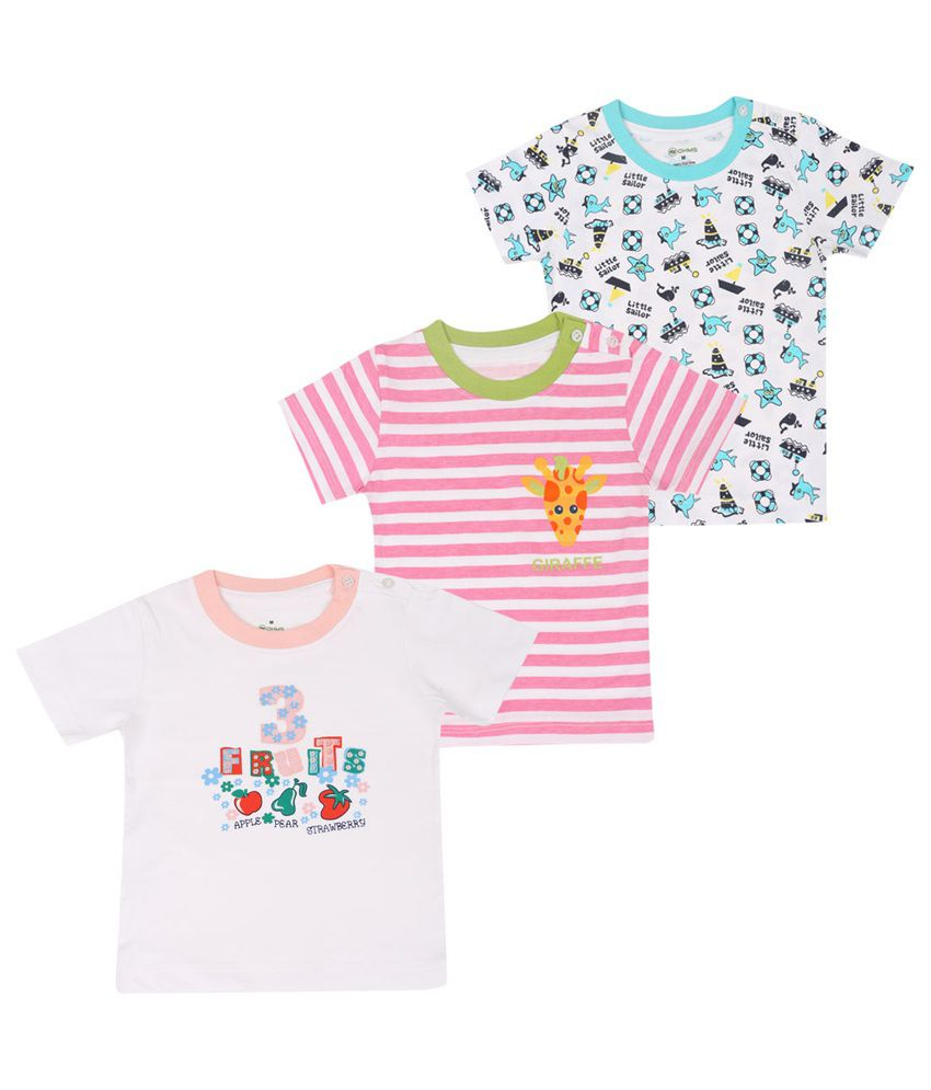 OHMS Multicolor Cotton T-Shirt - Pack Of 3