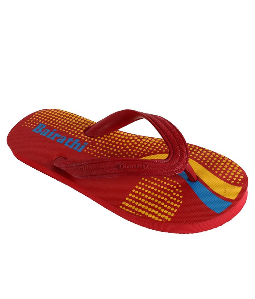 Bairathi Red Slippers & Flip Flops
