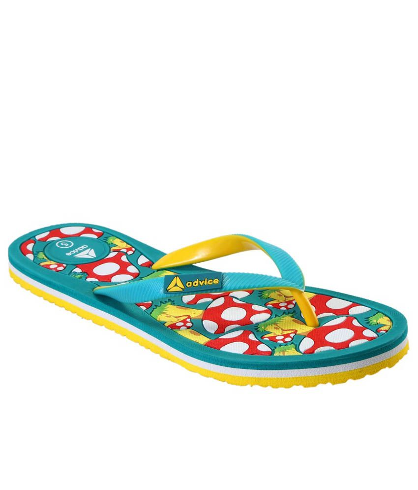 Advice Turquoise Slippers & Flip Flops