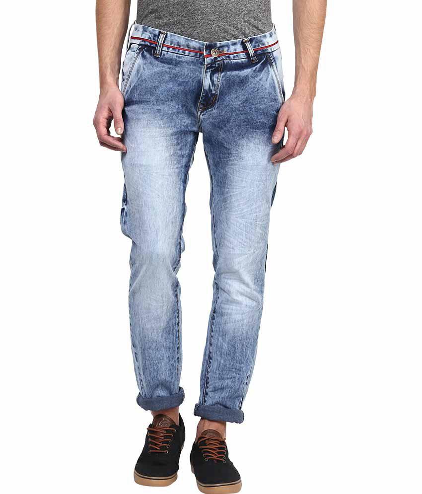 Rodamo Blue Slim Fit Jeans