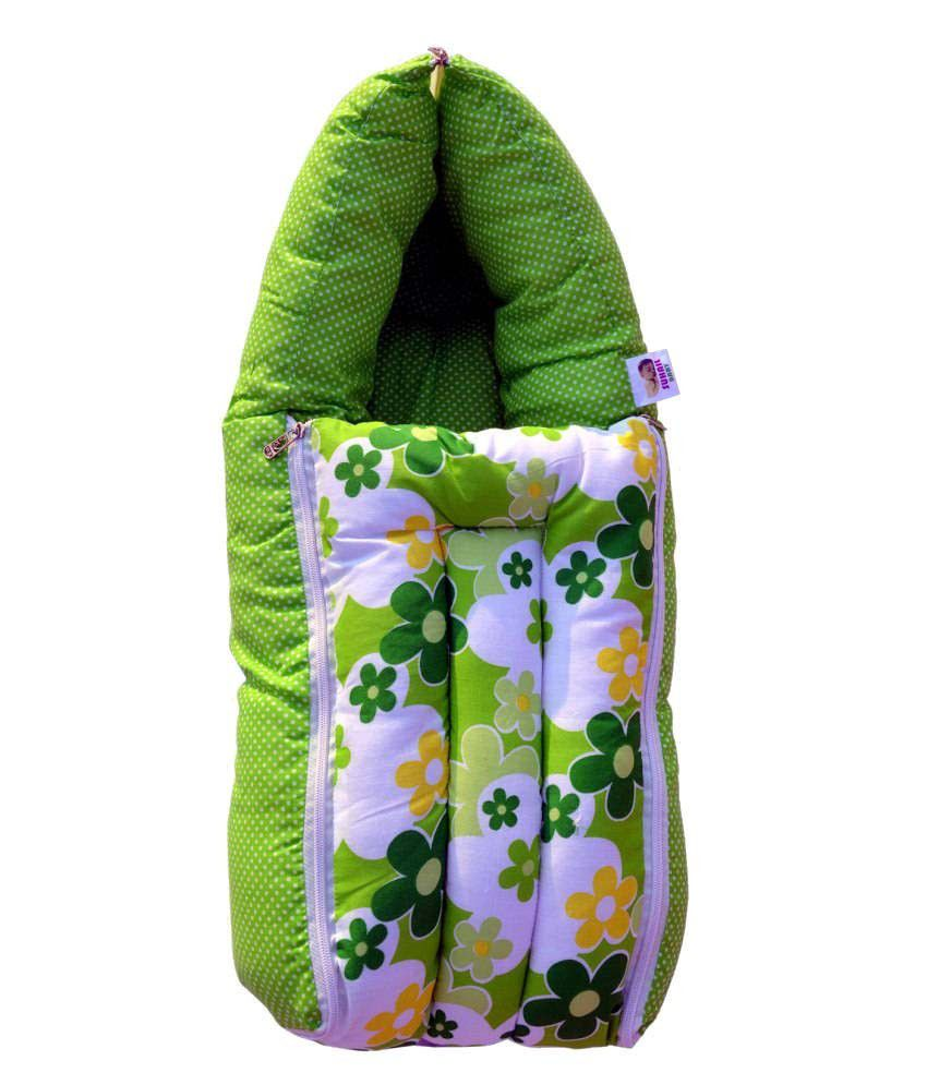 Younique Green Cotton Sleeping Bags ( 66 cm × 50 cm)