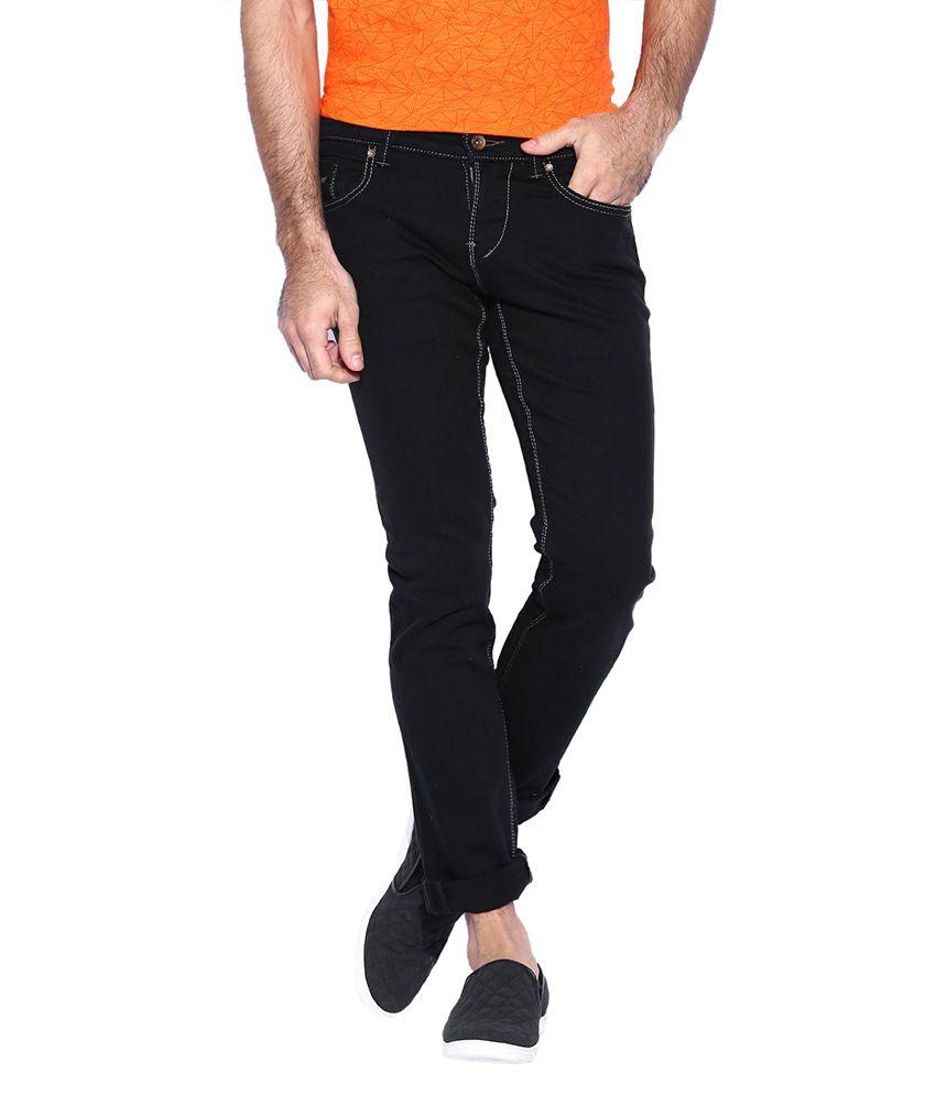Rookies Black Slim Fit Jeans