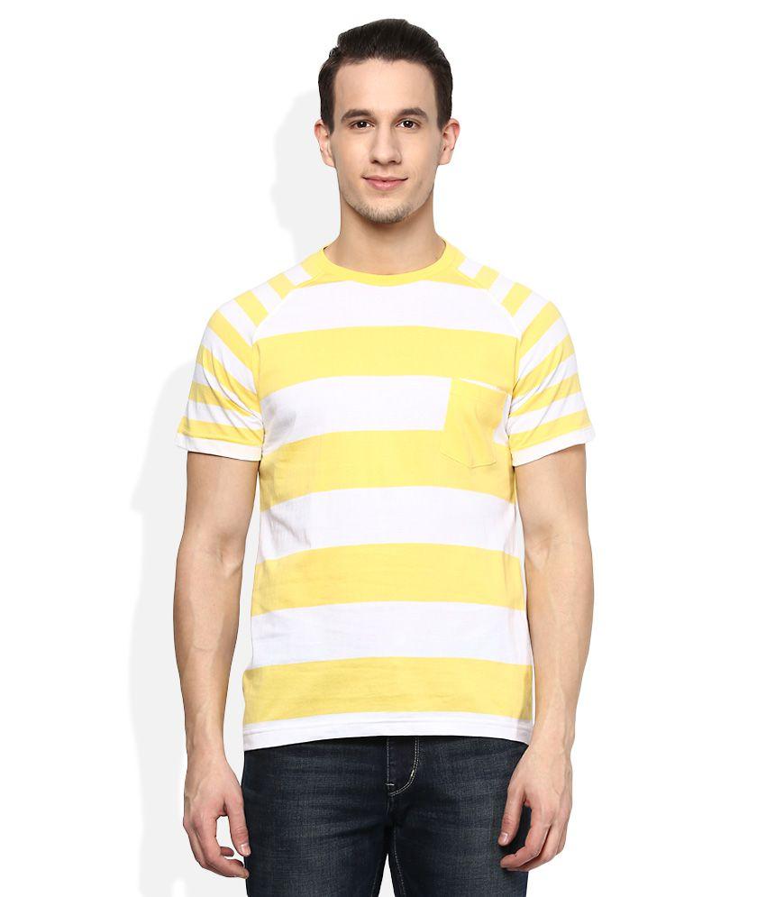 Acropolis Yellow Round Neck T-Shirt