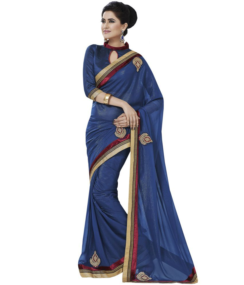 Melluha Purple Georgette Saree