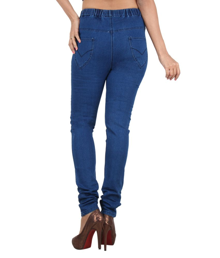 2372637688a9ee Buy Danbro Blue Denim Jeggings Online at Best Prices in India - Snapdeal