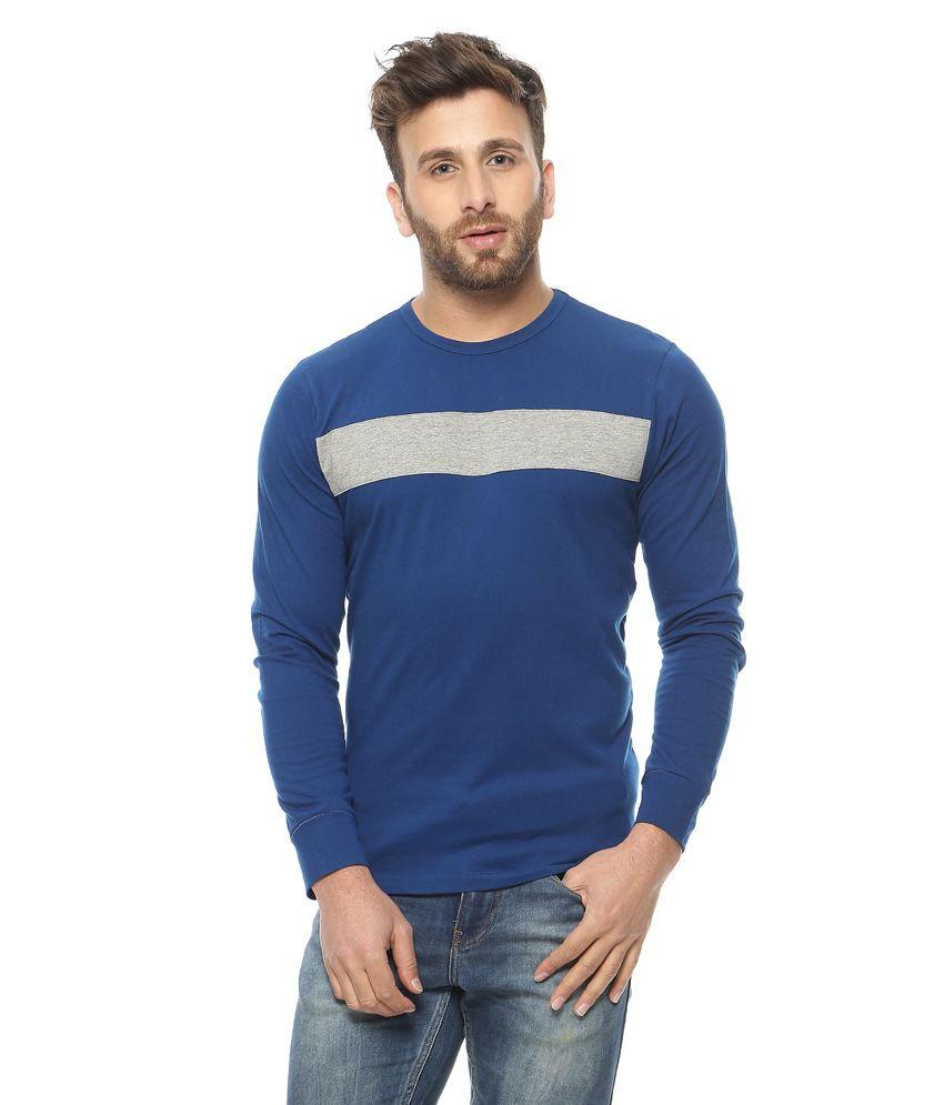 Gritstones Blue Round Neck T-Shirt