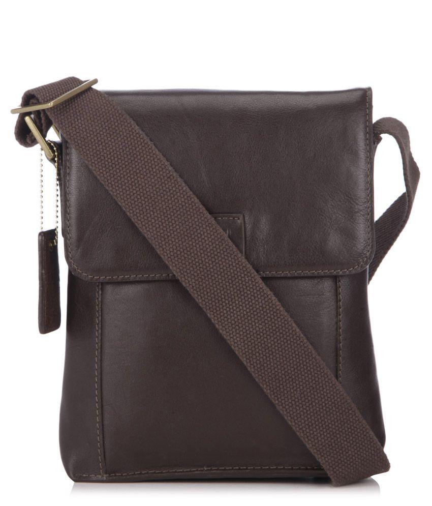 Hidesign Aiden 03 Brown Leather Mens Messenger Bag