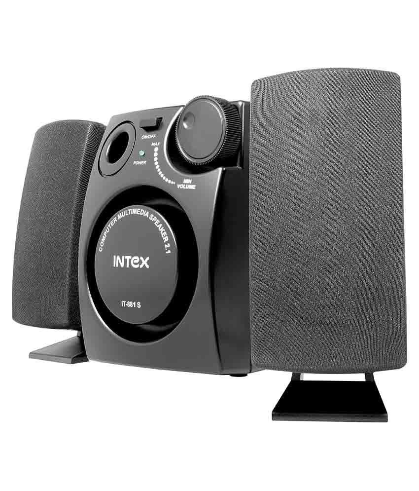 Intex It-881s 2.1 Desktop Speakers - Black Snapdeal Rs. 865.00