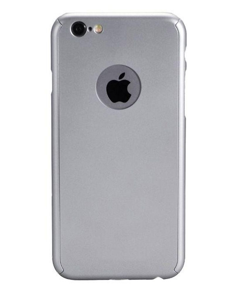 buy popular 1efb8 5bcef Ipaky Back Cover for Apple iPhone 6 Plus/6S Plus (Grey) with Tempered Glass