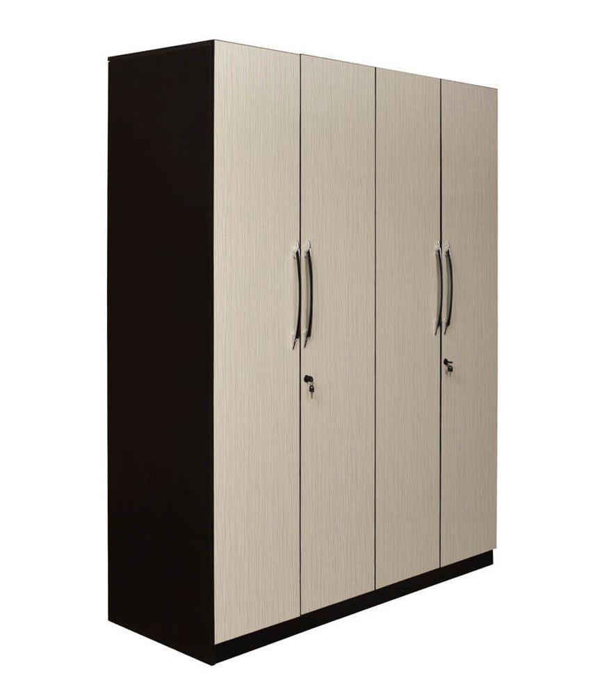 Parin Wood Wooden Furniture 4 Door Wardrobe Buy Online At Best