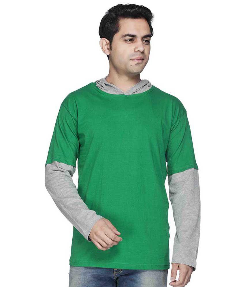 Demokrazy Green Cotton Blend T-Shirt