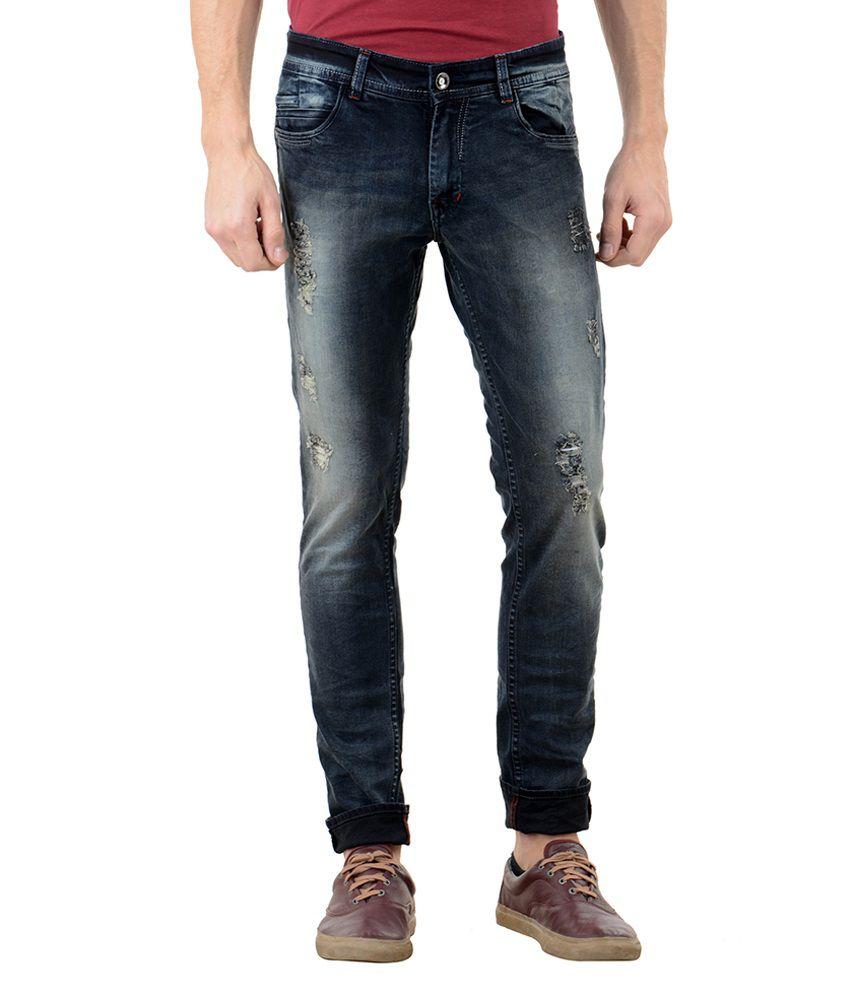 Flying Port Black Slim Fit Jeans