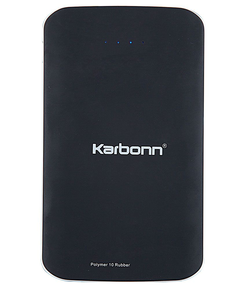 6e8a833385c Karbonn 10000 mAh Polymer Cell Power Bank - Black - Power Banks Online at  Low Prices