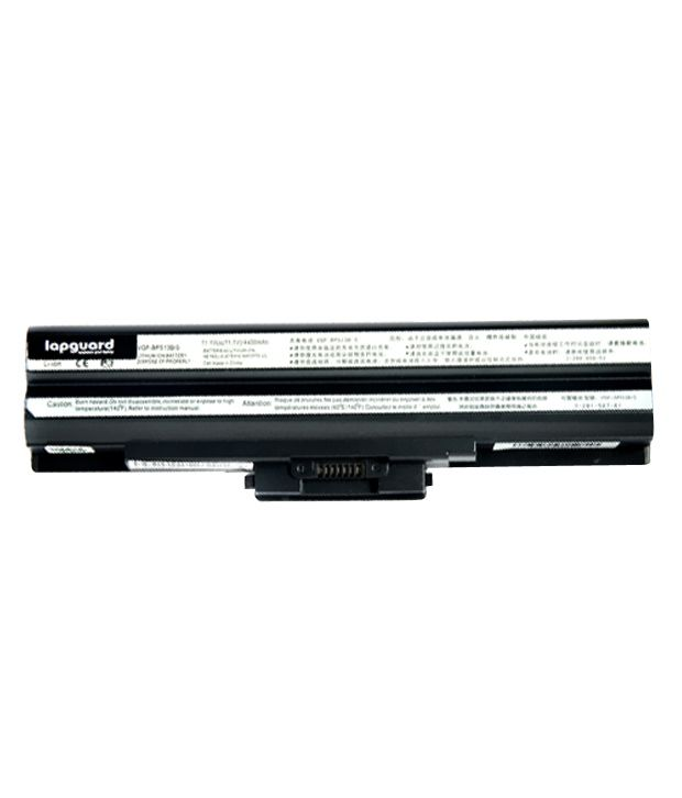 Lapguard 4400mAh Lithium-ion Laptop Battery For Sony VPC-F11Z1E/BI - Black