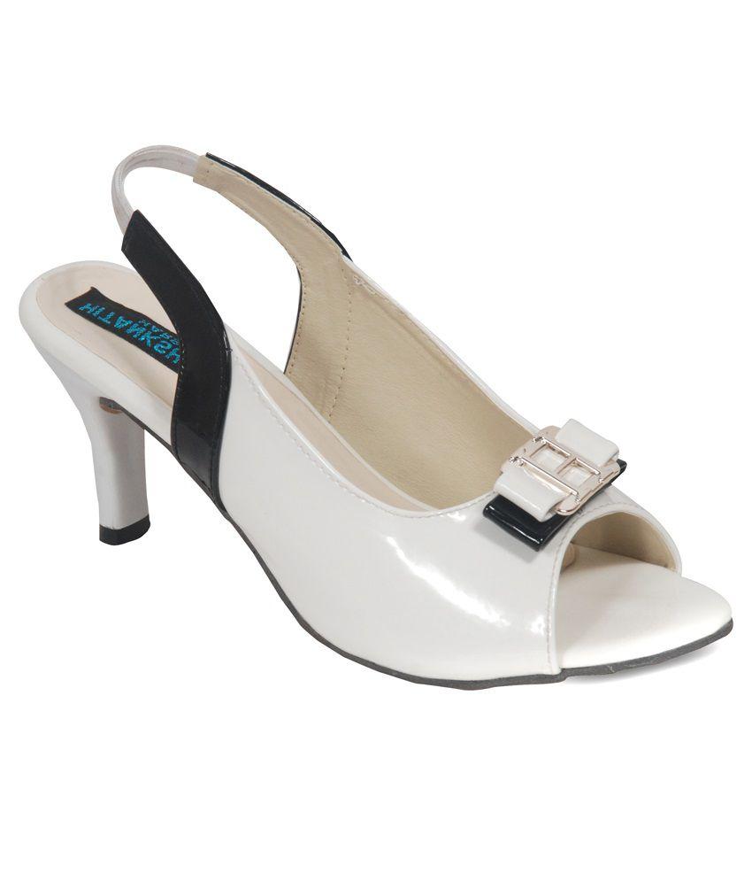 Hitanksha Harshit White Stiletto Heels
