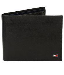 Tommy Hilfiger Formal Black Bi Fold Leather Wallet For Men