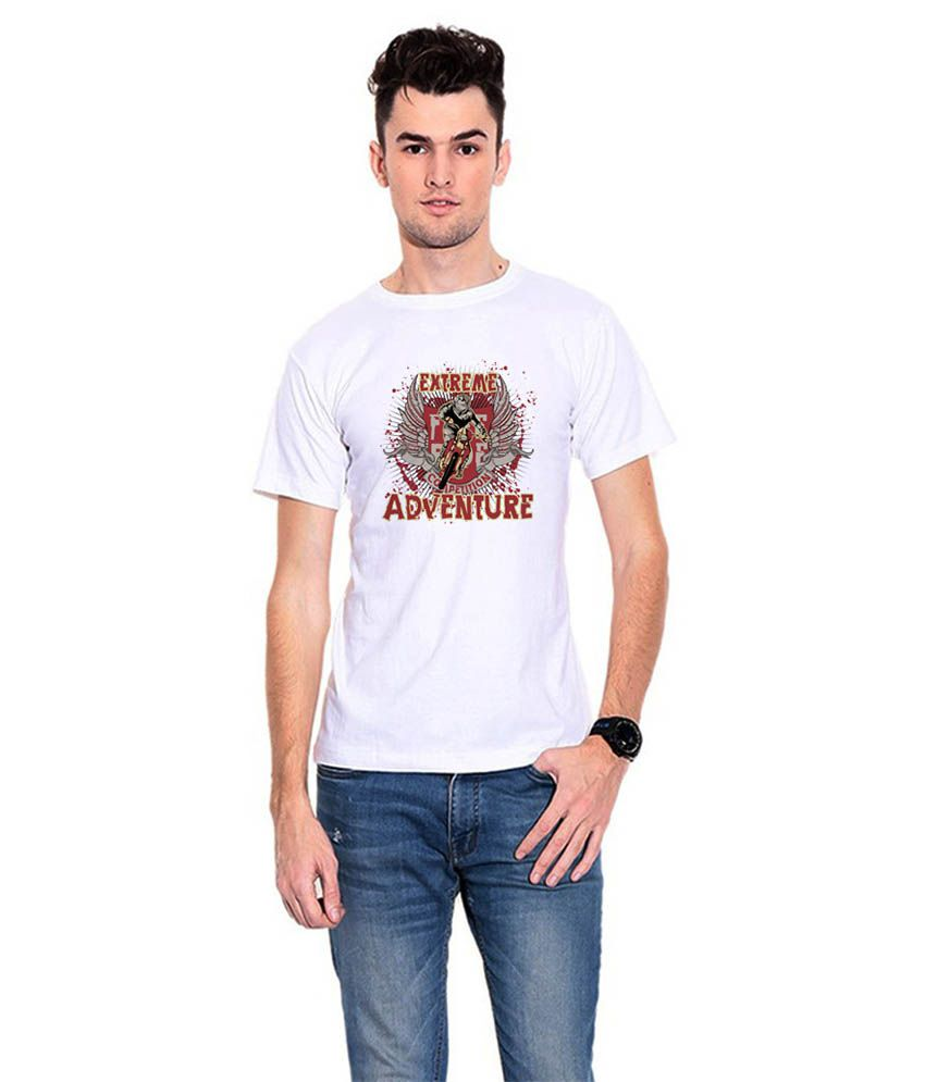Dealnearn White Round T Shirts Single