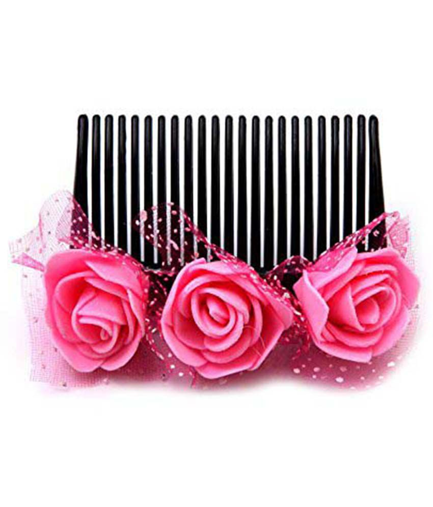 Sanjog Exclusive Comb Clip Pack Of 9 With Decorative Basket / Thali ...