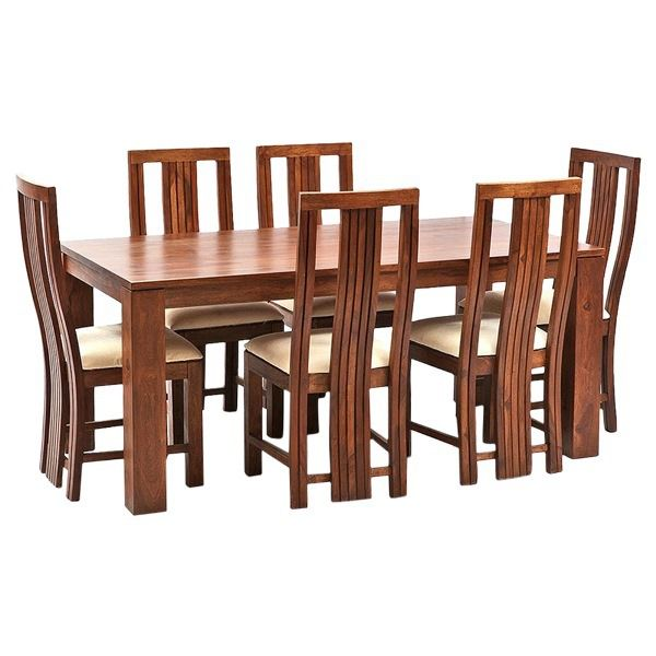 Ethnic India Art Madrid 6 Seater Sheesham Wood Dining Set with