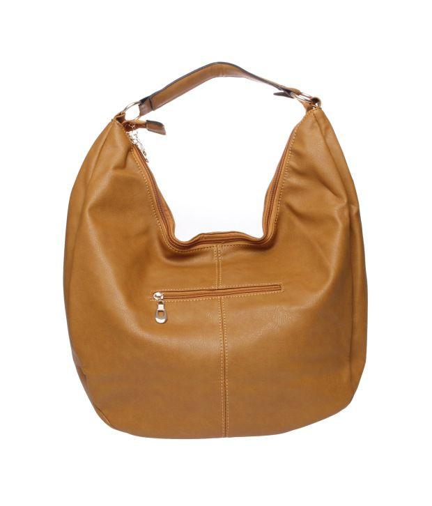 Fur Jaden Tan P.U. Hobo Bag - Buy Fur Jaden Tan P.U. Hobo Bag Online ... 65a89288c9