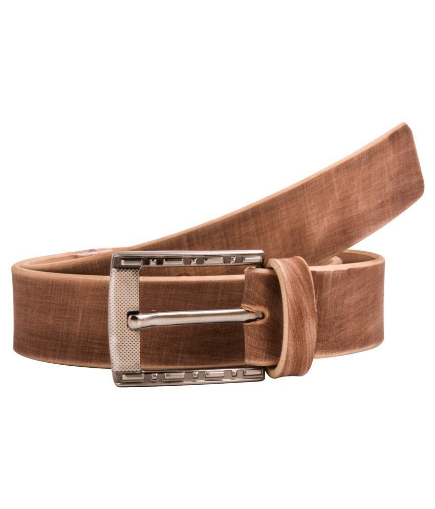 Shoppers Potli Brown Leather Belts For Men