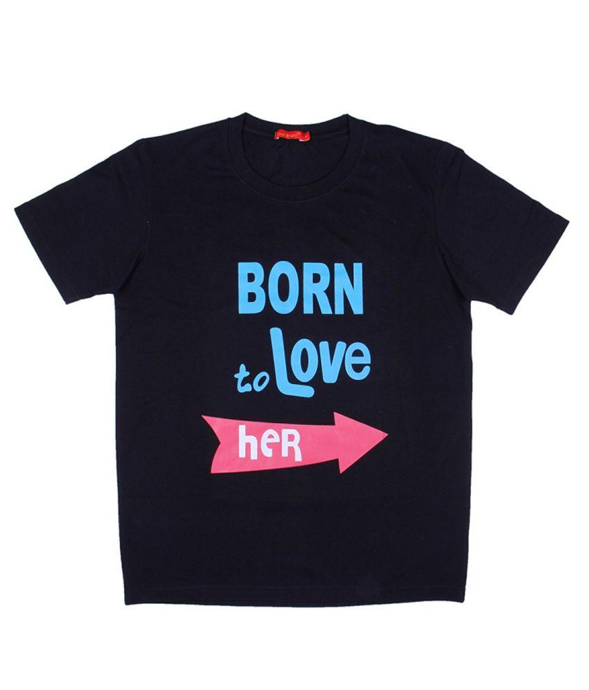 Vivid Bharti Black Round T Shirts