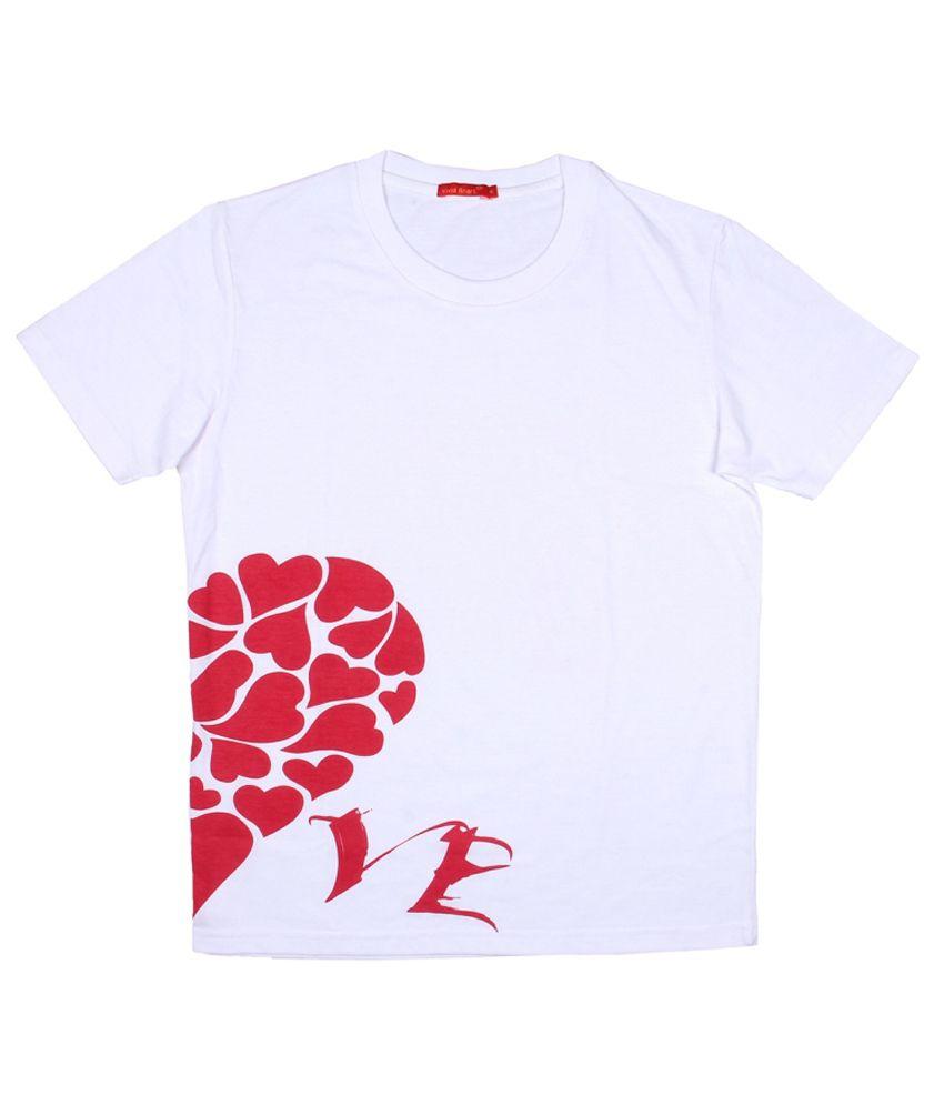 Vivid Bharti White Round T Shirts No