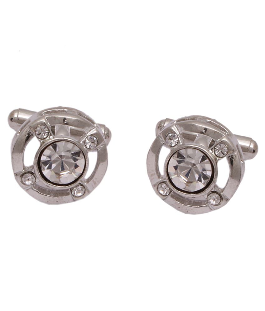 Sushito Silver Metal Cufflink