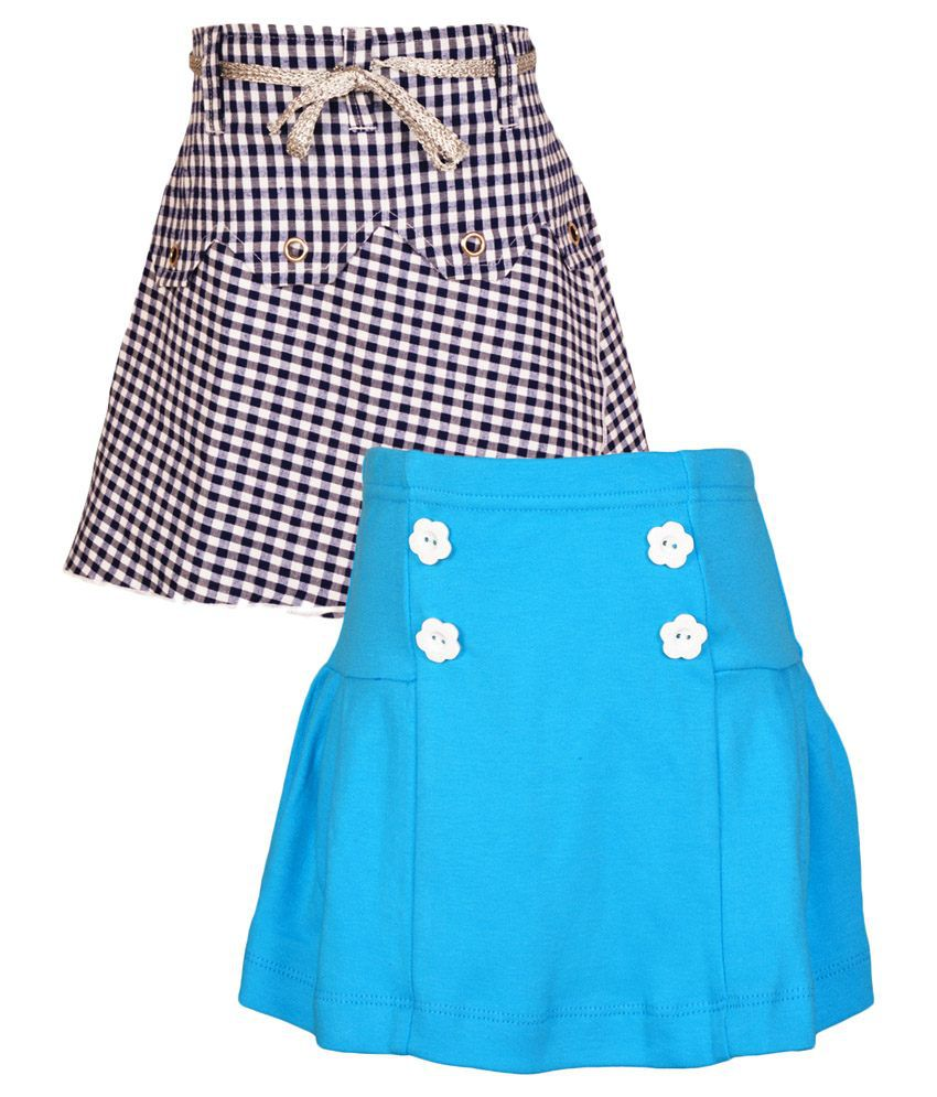 Gkidz Multicolour Cotton Skirt - Pack Of 2
