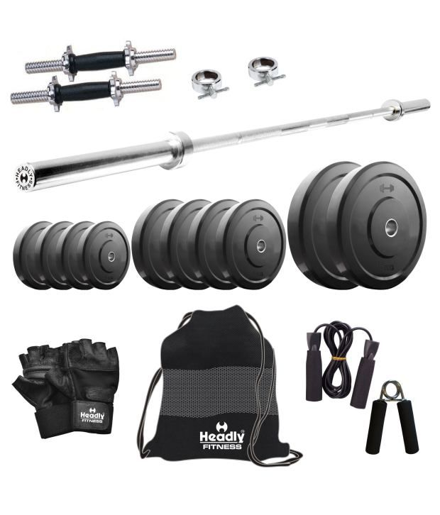 Gym Equipment Vadodara: Headly Convenient Home Gym Fitness Set 25 Kg: Buy Online