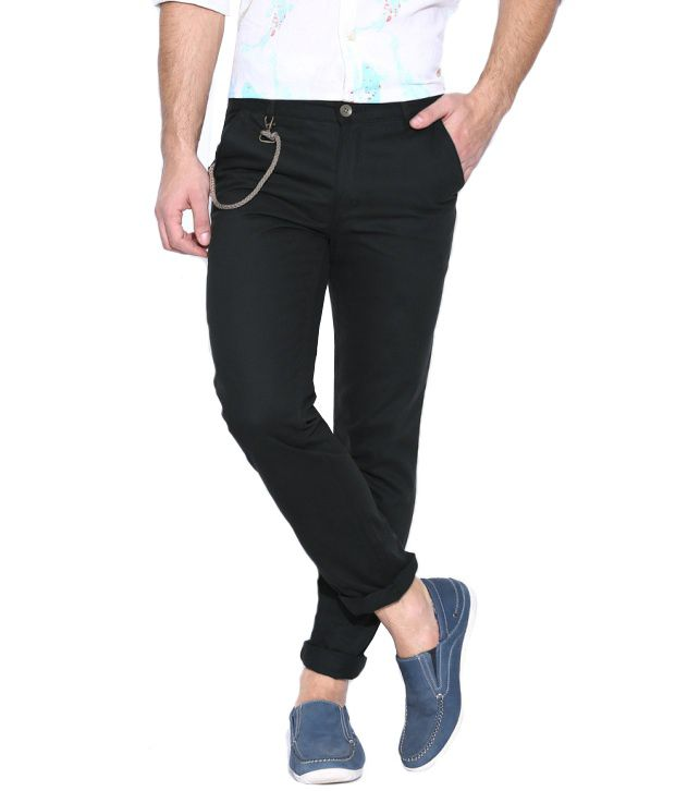 Hubberholme Black Regular Chinos Trouser