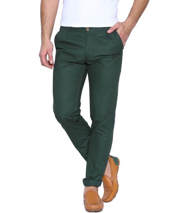 Hubberholme Green Regular Chinos Trouser