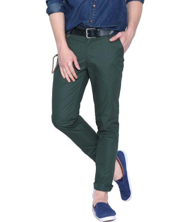 Hubberholme Green Regular Fit Chinos