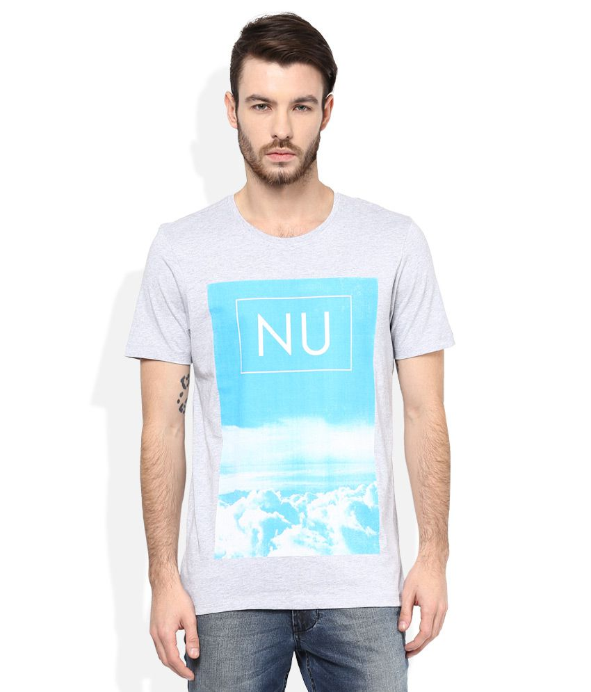 Numero Uno Grey Round Neck T Shirt