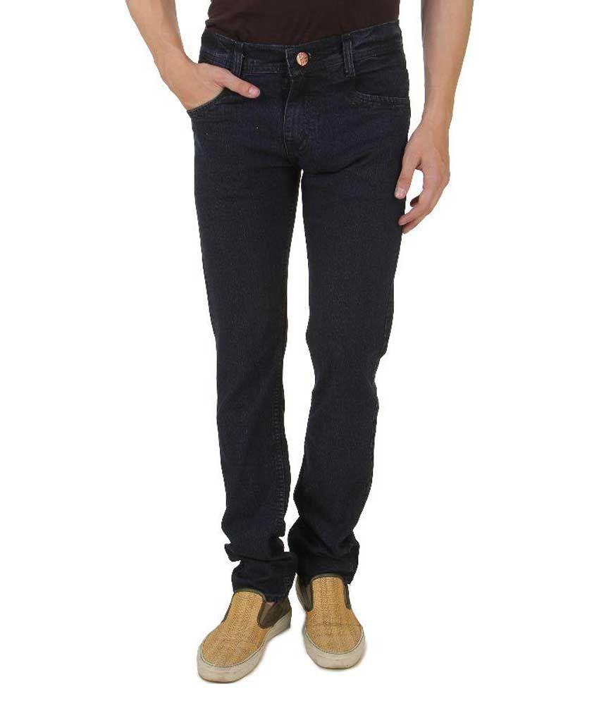 UK Blue Black Slim Fit Jeans No
