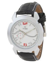 Vego Black Analog Watch